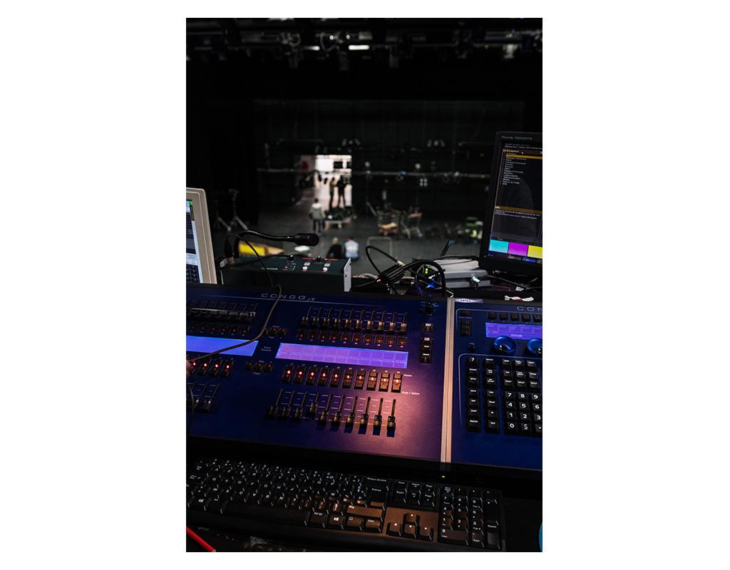 Régie lumière. Grande salle de spectacle du Centre Georges Pompidou.